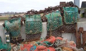 Scallop dredging nets