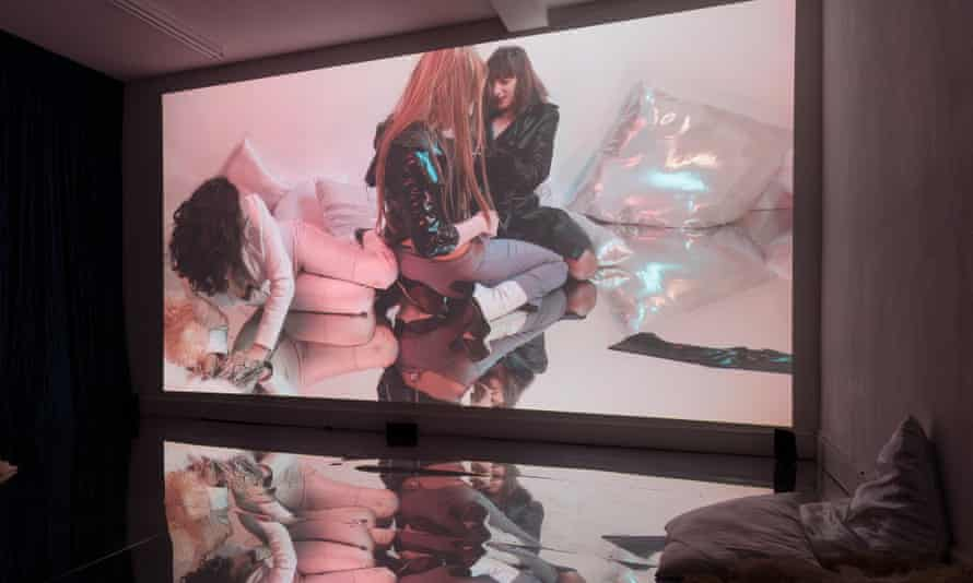 Mess and transgression … Sunday Fantasy installation view, film co-directed by Amy Gwatkin.