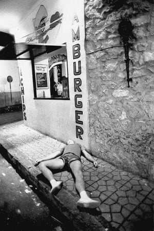 Worse for wear in Ibiza.