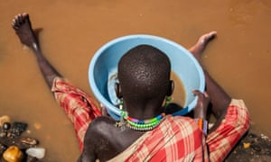 Panning for gold in South Sudan