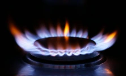 a gas hob ring burning