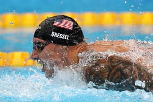 Caeleb Dressel of Team United States competes in the second Semifinal of the Men's 100m Butterfly
