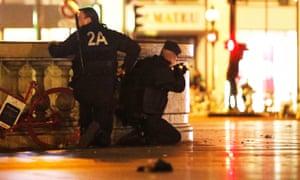 Armed police in Paris during terrorist attack