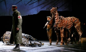 Rehearsals for the production of War Horse at the National Theatre, London, based on the novel by Michael Morpurgo