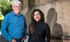 Nosheen Iqbal and her media studies teacher, Malcolm Ellison.