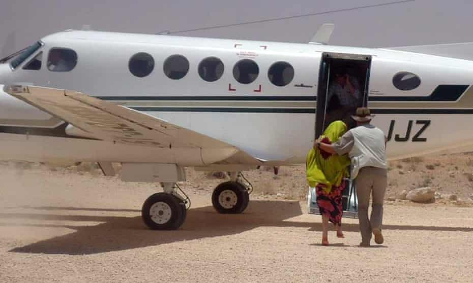 Judith Tebbutt at Adado airport after she was released in central Somalia, March 2012