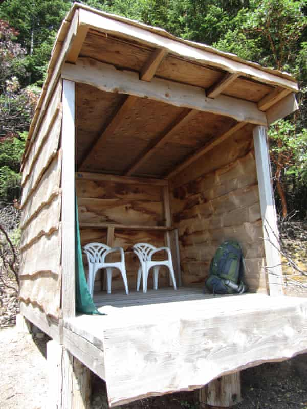 The shelter Galiano Canada - Dixe Wills story for Guardian Travel