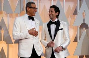 Jeff Goldblum and Adrien Brody