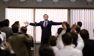 Leonardo DiCaprio as Jordan Belfort in Scorsese's The Wolf of Wall Street.