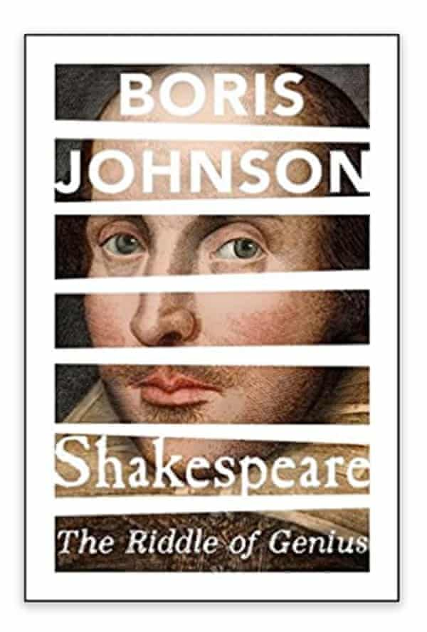 Listing for Boris Johnson's Shakespeare book, The Riddle of Genius