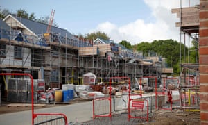 A stalled housebuilding project in Riseley, near Reading, southern England.