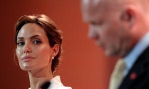 Angelina Jolie and her fellow LSE professor William Hague.