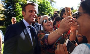 Emmanuel Macron made his comments about finding work in high-demand sectors at the Elysee Palace open day.