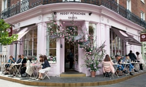 Ridiculously quaint: Peggy Porschen's, home of the swirling cupcake.
