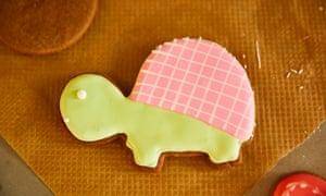 Kim-Joy's turtle ginger biscuit.