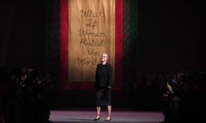 Maria Grazia Chiuri at the Dior Haute Couture Spring/Summer 2020 show