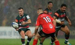 George Ford (left) was shown a harsh yellow card in Belfast.