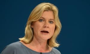 Justine Greening, Education Secretary.