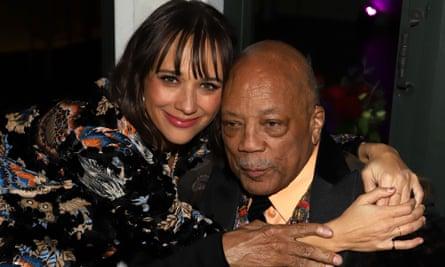 Rashida Jones with her father Quincy Jones in 2019.