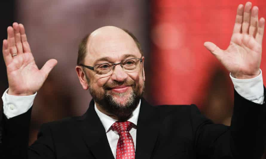 Martin Schulz at the party convention in Berlin
