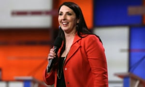 """Ronna Romney McDaniel in 2016. She told Fox News on Tuesday she found the allegations against the Las Vegas billionaire """"deeply troubling""""."""
