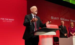 Jeremy Corbyn addresses the Labour Party Conference