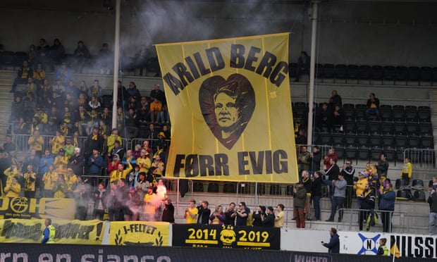Fans of Bodø/Glimt remembered Berg with a banner during a match against Odd in June.