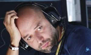 Gerard Lopez when principal of Lotus's Formula One team.
