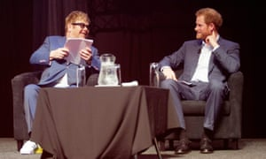 Prince Harry and Elton John at the 2016 International Aids conference in Durban, South Africa.