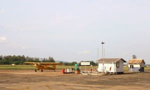 Piper Cub at the Charles Prince airport.