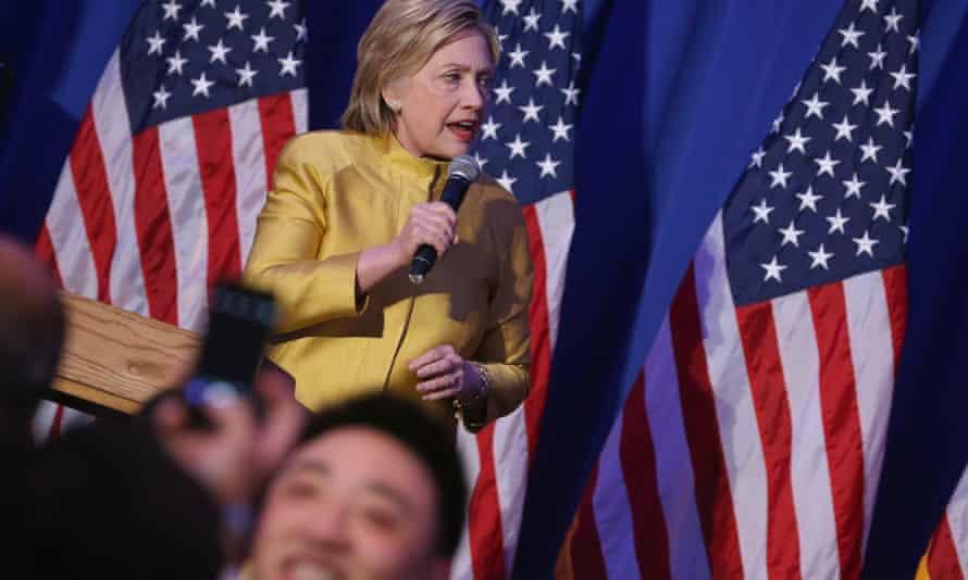 Hillary Clinton speaks in Washington DC on 4 May 21016