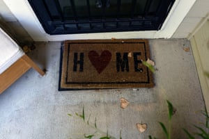 A welcome mat at Casa de Paz.