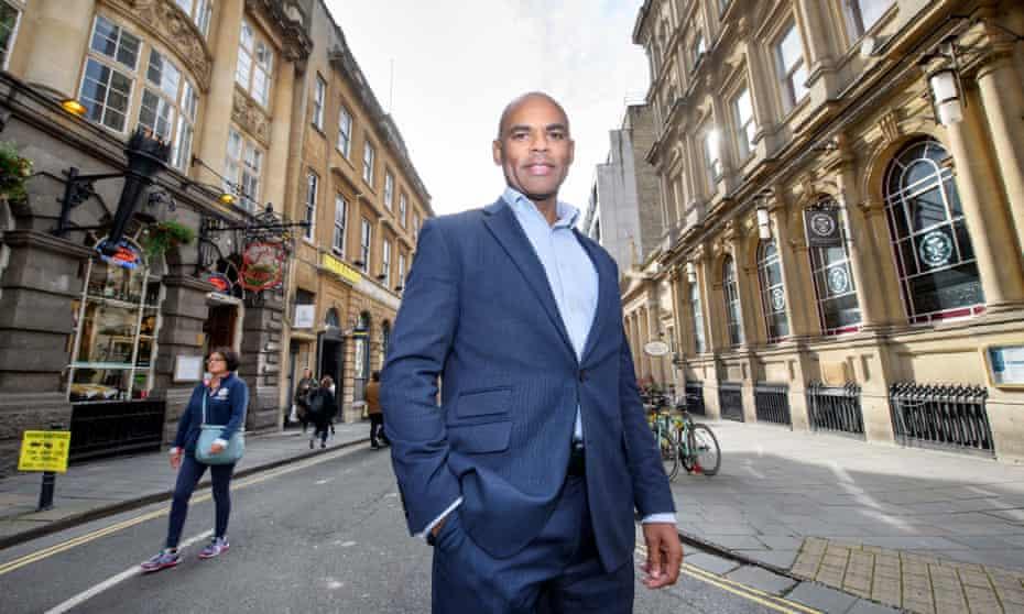 Marvin Rees, the mayor of Bristol, in Corn Street, Bristol