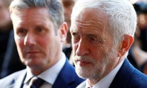 Keir Starmer, left, with Jeremy Corbyn