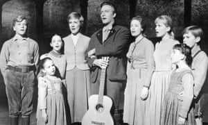 Charmian Carr as Liesl, fourth from right, in the 1965 film of The Sound of Music.