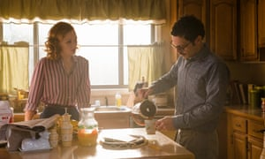 Kerry Bishé as Donna Clark and Scoot McNairy as Gordon Clark in Halt and Catch Fire.