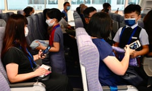 A 'flight to nowhere' at the China Airlines' campus in Taoyuan City - including flight attendant lessons for children.
