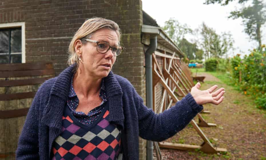 Annemarie Heite, whose home in Groningen has been scheduled for demolition after earthquakes caused by oil drilling.