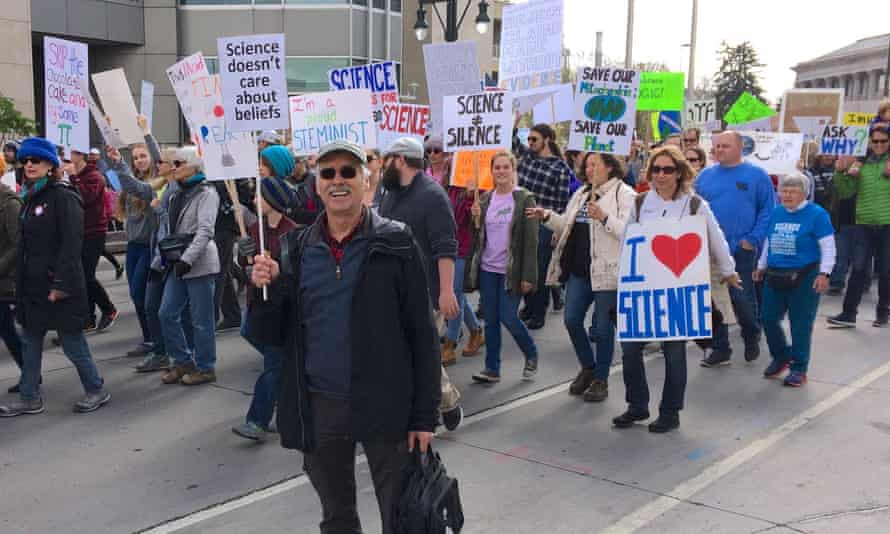 Climate scientist Dr. Kevin Trenberth at the March for Science on 22 April 2017 in Denver, Colorado.