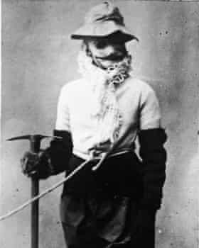 Portrait of American mountaineer Annie Smith Peck.