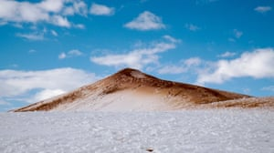 The Sahara has been hit by the biggest snowfall in living memory