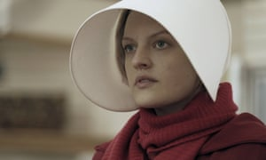 Elisabeth Moss in the 2017 TV adaptation of The Handmaid's Tale … the spirit of Margaret Atwood's novel hangs over Jennie Melamed's debut, Gather the Daughters.