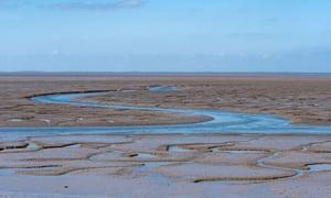 View across the Wash estuary from Snettisham in Norfolk.
