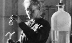 Marie Curie, the only woman to have won two Nobel prizes, in her Paris laboratory in 1925.