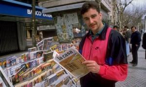 John Aldridge the Basque Country in 1990.