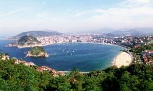 La Concha beach, San Sebastián, Spain.
