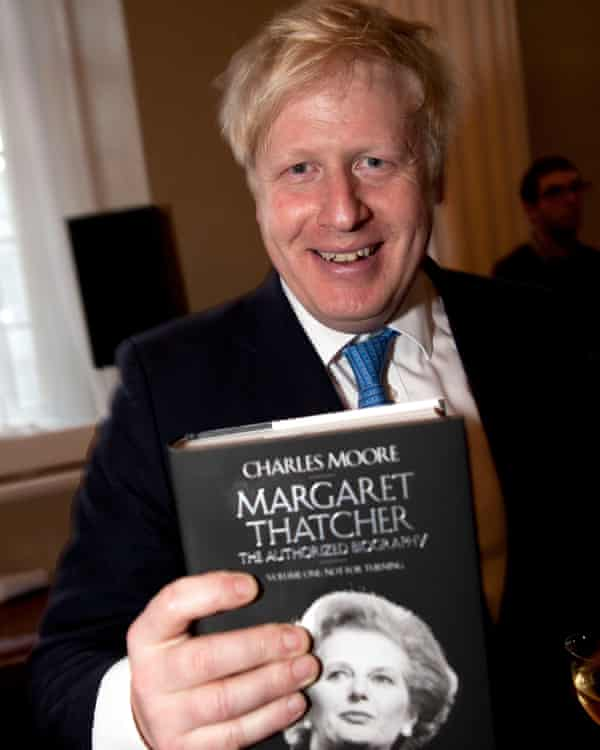 Boris Johnson at the launch party for the first volume of Charles Moore's Thatcher biography, 2013.