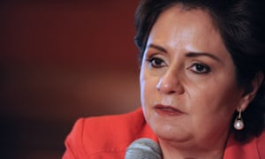 Patricia Espinosa says she has been unable to land a meeting with the US state department.
