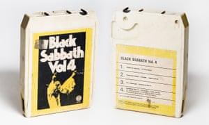 Eight-track tape of 'Black Sabbath Vol 4' from 1972.