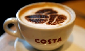 Sales at Costa stores in China are growing compared to UK branches